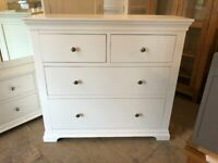 Chantilly White 2+2 Deep Chest of Drawers