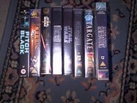 Assorted VHS Tapes, 2 DVD's and 1 movie soundtrack for sale