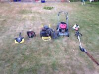 Spaces and repairs lawn mower chain saw pressure washer job lot