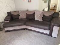 Sofa and swivel love chair