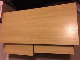 Oak effect coffee table plus 2 small that go underneath