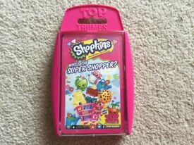 Toptrumps Shopkins Cards