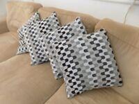 Geometric design cushions