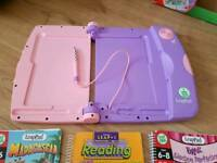 leap pad and 9 books