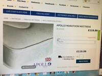 Brand new double mattress apollo marathon MEDIUM FIRMNESS