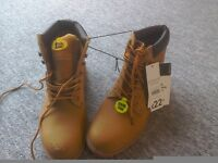 Brand new pair of steel toe boots size 12