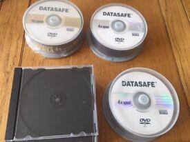 Datasafe 4x speed DVD-R 4.7Gb blank general purpose Media Discs + 5 new cases