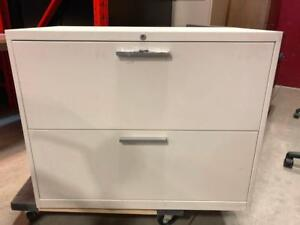 Teknion 2 Drawer Lateral Filing Cabinet with Handles - $150