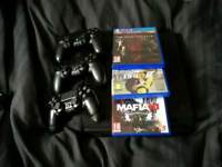 Ps3 500gb + 3 controller+ 3 games