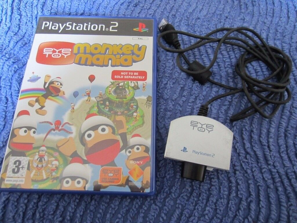 Playstation 2 Eye Toy and Monkey Mania Game for the Eye Toy