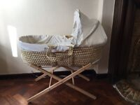 Moses basket, good condition 2 careful lady owners!- Clair de Lune