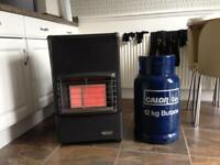 Calor gas heater with empty bottle