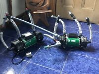 2 Shower pumps (salamander) used(RSP100 & ESP75CPV)