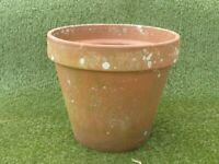 Vintage Well Weathered Large Terracotta Garden Pot 32cm tall (1030)