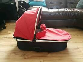 Oyster max carrycot red and black covers oyster 2 oyster gem
