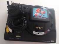 Sega Mega Drive Console with Sonic game