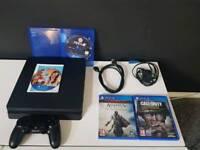 SONY PS4 SLIM + GTA 5 FIFA 18 COD: WW2 & ASSISSINS CREED: EZIO