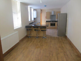 Large two bed flat . Rurbished to a very high standard. Allensbank Road. No agent fees.