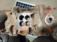 1970 Dodge Plymouth 340 4bbl intake and carb