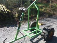 LOG TRAILER / BOGIE FOR ATV OR QUAD - Forestry, logs, chainsaw