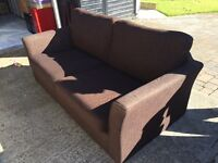 2 brown DFS sofas for sale. £100 for both. £50 each. Collection only. Decent condition!