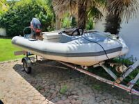 Avon 4m RIB boat 30hp Mariner outboard