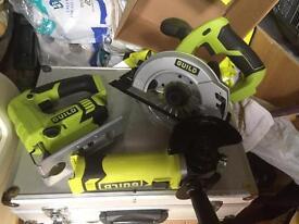 3 18volt Cordless power tools