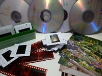 Scanning service - transfer of 35mm Slides, negatives and photographs to cd/dvd etc