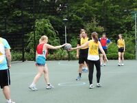Netball, basketball and ultimate frisbee combined