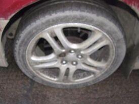 "Subaru Impreza Bugeye WRX 17"" Newage Alloy Wheels & Tyres Turbo 2000 5x100"