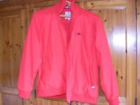 Dublin bright red blouson jacket size M approx 16/18
