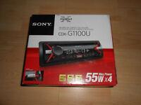 BOXED like NEW SONY CDX-G1100U XPLOD MP3 USB Aux-IN CD PLAYER STEREO RADIO SUPER LOUD 55W x4