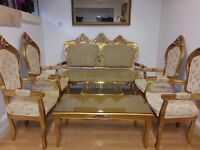 beautiful french dining set. lovely colour and excellent condition.