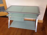 Frosted green glass desk