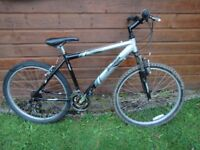 Raleigh Triumph Vermont bike , 26 inch wheels, 21 gears, 18 inch aluminium frame, front suspension