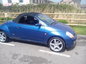 Ford Streetka 1.6 Blue, 2dr, 2005, Convertible MOT, Air-Con, Alloy Wheels, Elec/windows, Radio/CD,