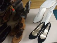 womens shoe bundle, size 5, assorted flats,heels, boots, new with / without tags, mostly GEORGE, £15