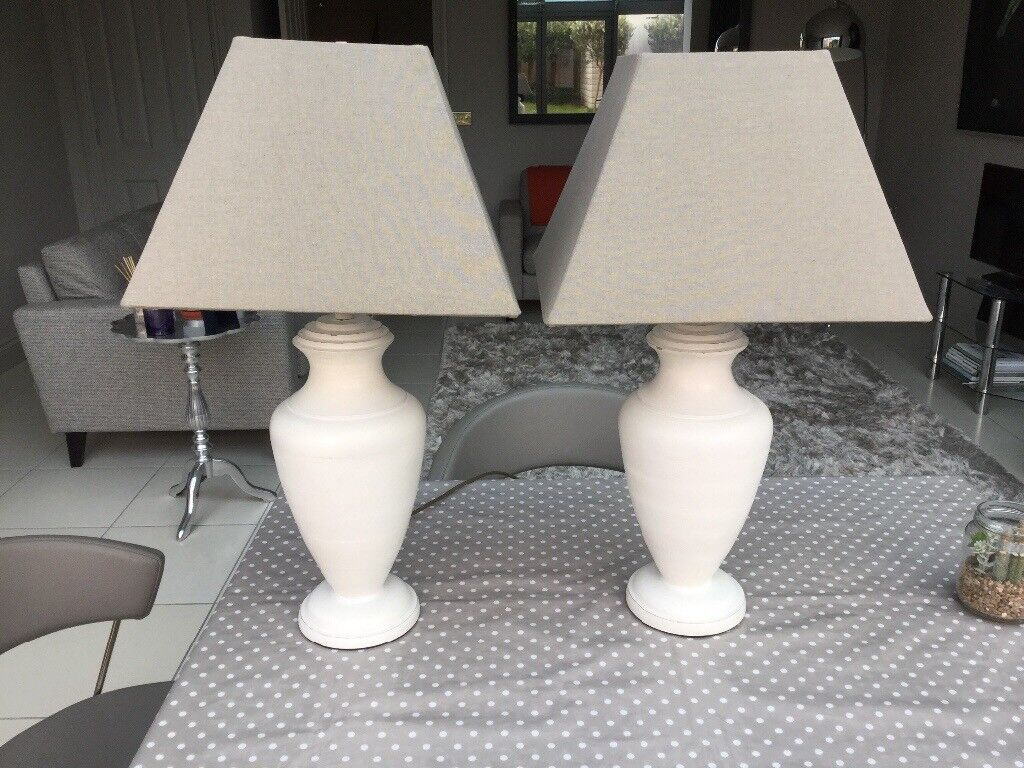 A pair of table lamps for sale £30 perfect condition. Buyer collects