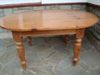 SHABBY CHIC PROJECT PINE DINING TABLE ON LARGE THICK LEGS REDUCED TO ONLY £20 FOR QUICK SALE