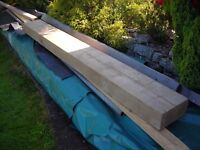 large piece of new timber