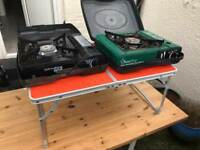 Camping Gear: 2 X camping stoves and camping table!