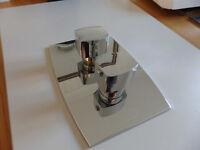 Bathroom Rectangular Trim Plate with Diverter and Regulator handles
