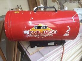 Clarke devil 1850 110V propane storage heater