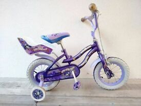 "(3111) 12"" MAGNA ISLAND BREEZER Girls Kids Childs Bike Bicycle + STABILISERS Age: 3-4, 90-105 cm"