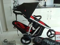 Phil and Teds Vibe Single or Double Twin Buggy Pushchair Stroller jogger excellent condition