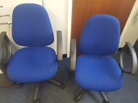 Free blue office chairs x 2
