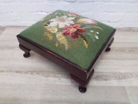 Tapestry Footstool (DELIVERY AVAILABLE FOR THIS ITEM OF FURNITURE)