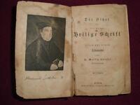 Die Bibel, Heilige Schrift nach Dr. M. Luther; mit 1 Stahlstich Thüringen - Apolda Vorschau