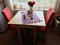 Bjursta Dining Table and 2 Hendriksdal Chairs