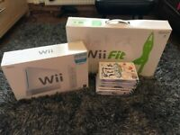 Nintendo Wii console, Wii fit board and nine games